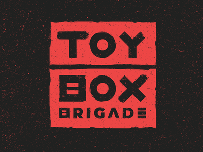 Toy Box Brigade Logo vector illustration teddy bear mascot brand branding logos band punk skate splatter grunge paint logo black red