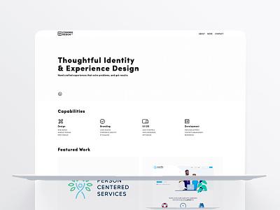 Coderre Design Homepage web design wordpress product design design user experience user interface portfolio hero homepage branding website logo black white ux  ui minimal ui ux