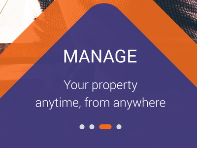Landing screen design for Property app android material design design app real estate