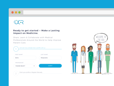 Signup Process for upcoming project flat design health medical signup ui app web