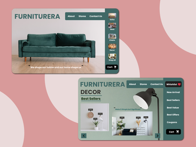 Furniturera -Web App interior uiux ui minimal webdesign web app furniture app