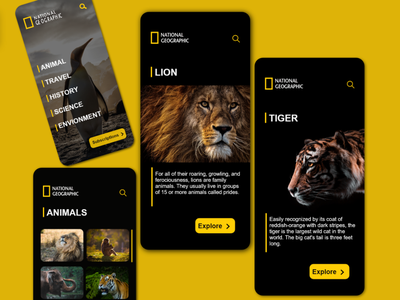 National Geographic App app design attempt uidesign ui app