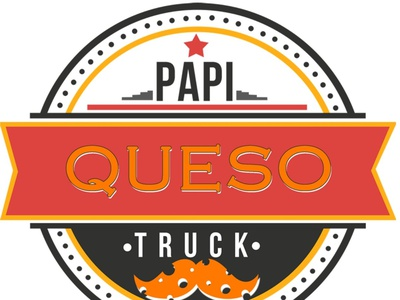 Papi Queso Truck logo minimal vector design illustration