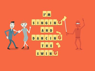 How to Spot an Italian cutting cut sword vector words dancing italian spot ninja babbel
