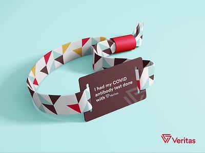 Veritas COVID-19 Promo material branding design branding agency branding design stickers bracelet promotional design covid-19