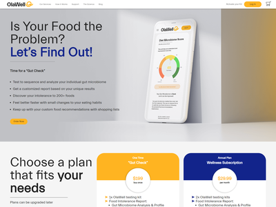 Website Design for OlaWell banner ads website banner website design blog design ui design webdesign website