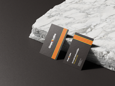 Onze Labs Business Cards clean modern brand identity branding design branding design branding agency business card mockup business card design business card