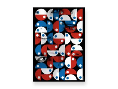 Grid Color Blue Red