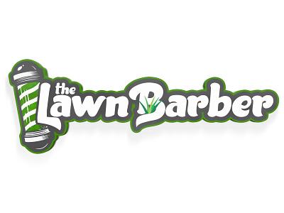 The Lawn Barber illustration logo minimal clean graphic design design branding art