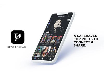 Pay The Poet App mobile app mobile design app design ux ui minimal clean design branding art