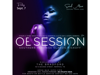 Obession Southern Heritage Classic Flyer flyer typography art graphic design clean design branding