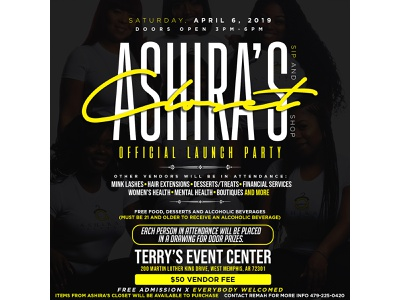 Ashira's Closet Launch Party typography ux ui flyer graphic design design branding