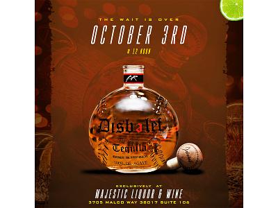 Disbelef Tequila Launch Flyer flyer art graphic design design branding