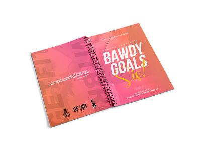 Bawdy Goals typography art clean flyer minimal logo design graphic design branding