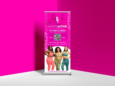 Banner Design for Brefit Active art flyer ui ux logo clean minimal graphic design design branding