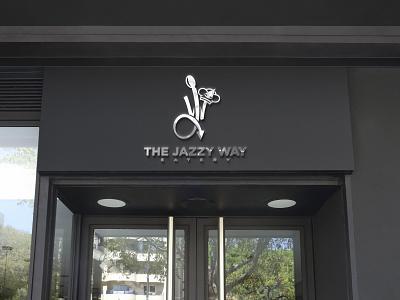 """The Jazzy Way Eatery"" Restaurant Logo flat animation vector app ux ui logo graphic design design branding"