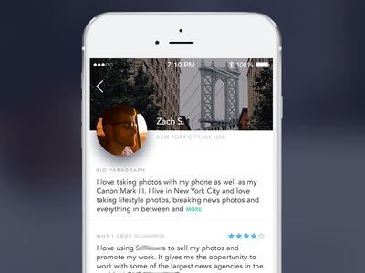 Profile screen