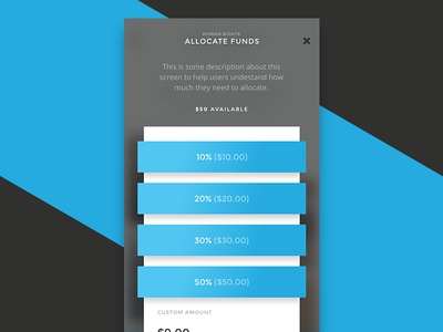 Donation App - Allocate funds