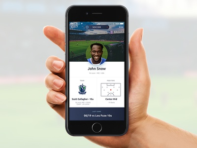 Athlete Profile Screen