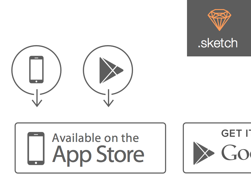 Store Icons (Apple App Store and Google Play) app store google play store icons google apple app store google play store app store icon sketch app store icon sketch google play icon sketch