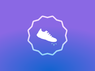 Fancy Shoe running feet steps icon shoe