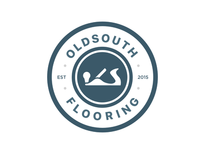 Old South Flooring brand company circle logo identity branding logo