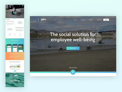 Spire - Home Page Redesign front page home page landing page splash page web design web home homepage social web ui