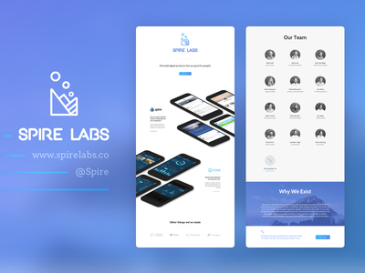 Spire Labs - Web Redesign chattanooga rove spire 2017 new web design website landing page splash page redesign web