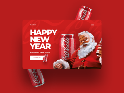 Landing Page logo cocacola website web ux ui graphic design design branding animation coca-cola
