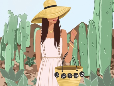 A travelling girl travel summer fashion illustration illustrator illustration design artwork art