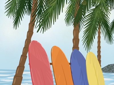 Surf with me surfing surf digitalart travel summer design artwork illustrator illustration art