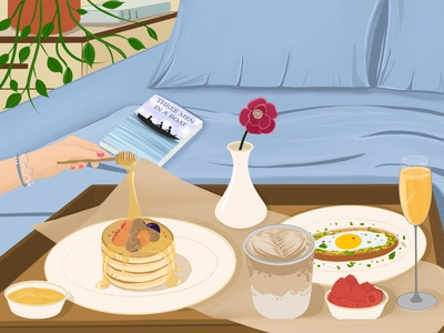 Saturday breakfast food breakfast sketch digitalart digital design artwork illustrator illustration art
