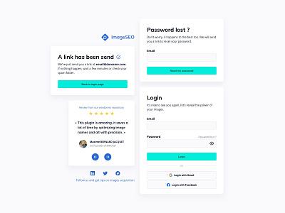 ImageSEO Login interface branding web website startup ux interface design wordpress review sass register sign up login kit interface ui