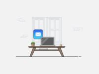 Mail Application on Desktop - Illustration