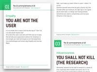 The 10 commandments of UX - Poster