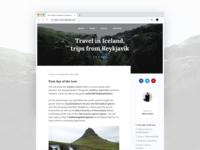 Blog Post Iceland