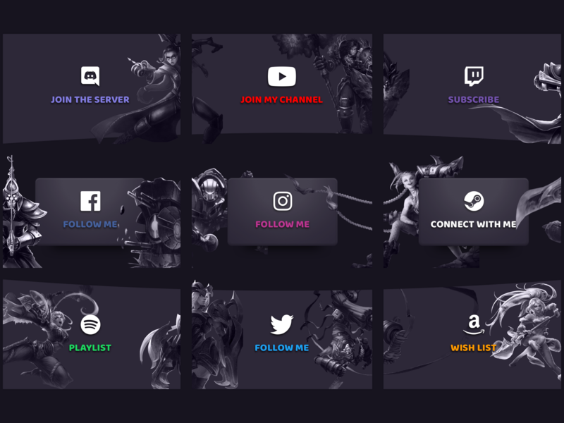 Twitch Info Panel Streamer video games gaming social leagueoflegends twitch.tv lol streamers streaming gamer game stream twitch