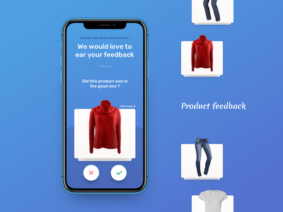 Product Feedback Mobile dailyui application startup mobile app design card android ios app swipe size feedback reviews product mobile ui