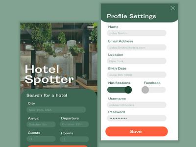 Settings Ui Page dailyuichallenge app interaction web ux ui interface typography design branding