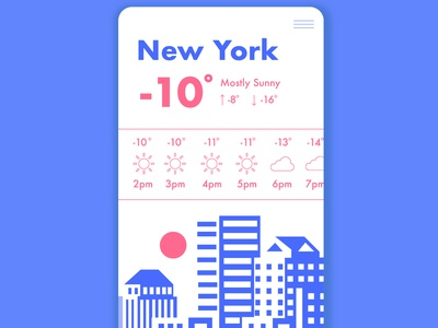 Weather App dailyuichallenge app interaction interface ux ui logo design branding typography