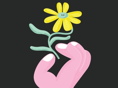 A flower for you icon illustration design characterdesign illustration design