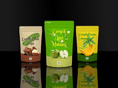 ANEKA KERIPIK NUSANTARA indonesian indonesia local pride apple banana fruits chips food snack creative advertising design coreldrawx7