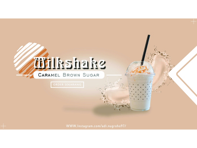 Milkshake Caramel Brown sugar instagram flyer food creative poster branding indonesia advertising design coreldrawx7