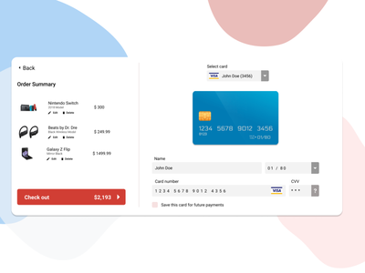 Card Payment Gateway flat app web ux typography ui illustration design dailyui daily ui