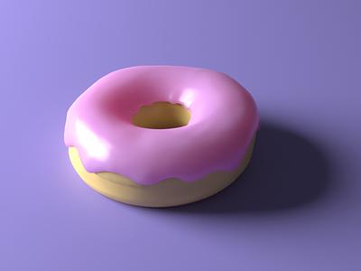 3D modeled donut blender 3d donut food blender 3d art