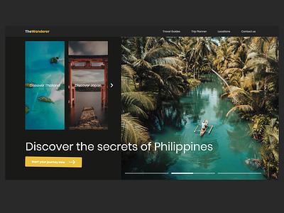 Landing Page | Daily UI #3 | Travel Webite landingpage planner website travel ui design daily ui