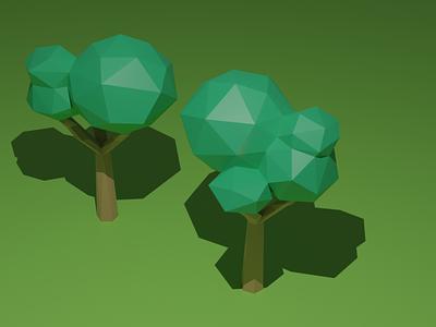 Low-poly Trees 3dmodeling modelling lowpolyart lowpoly trees blender3d 3d art