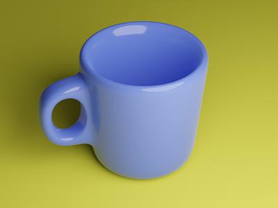 3D modelled cup 3dcup blender3dart blender3d 3dmodeling 3d art cup