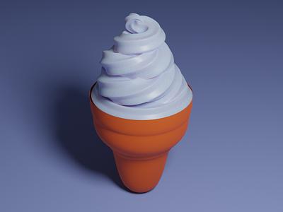 Ice Cream dessert icecream blender 3d art blender3d 3dmodeling