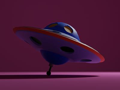 3-D UFO Toy 3dtoy 3dufo ufo blender3d 3dmodeling design 3d art